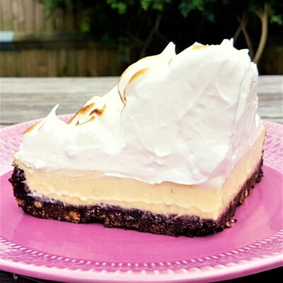 Chocolate Lime Pie with Italian Meringue