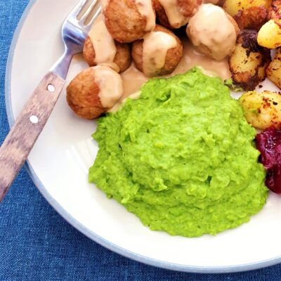 Pea Puree with Garlic (Gluten Free)