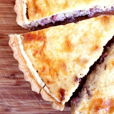 Quiche Lorraine with Homemade Thyme Pastry