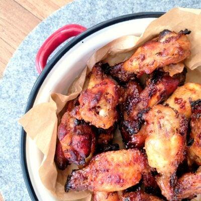 Sticky Maple Chicken Wings (Gluten Free)