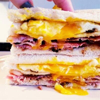 "Egg & Bacon Club Sandwich (""Triple Decker"")"