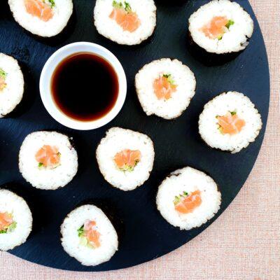 Salmon Maki Sushi Rolls