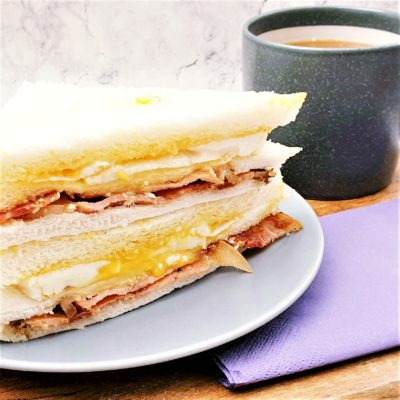 "Egg & Bacon Club Sandwich (""Triple Decker"")"