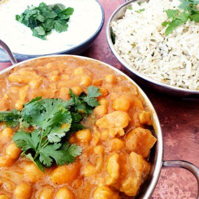 Chicken, Chickpea & Butternut Korma