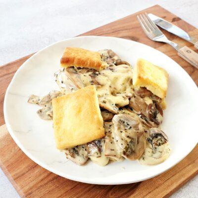 Creamed Mushrooms with Oregano