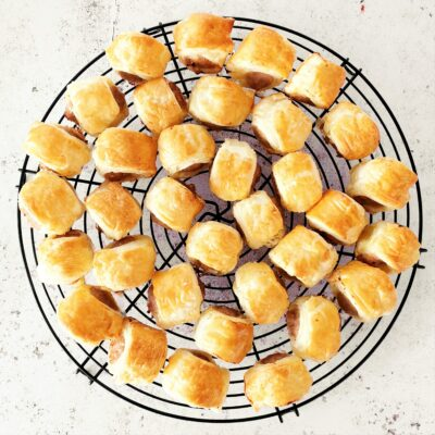 Mini Sausage Rolls with Puff Pastry