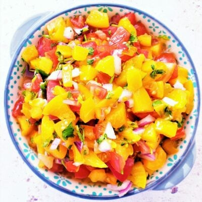Peach Salsa (with Canned Peaches)