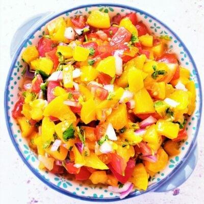 Peach Salsa (with Canned Peaches)
