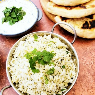Easy Green Rice (Coriander & Garlic)