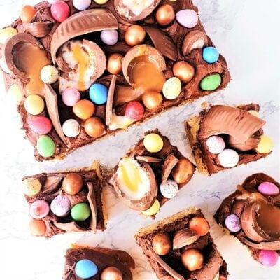Easter Chocolate Traybake Cake