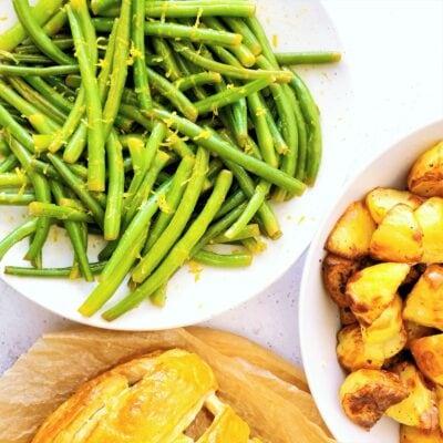 Buttery Lemon & Garlic Green Beans