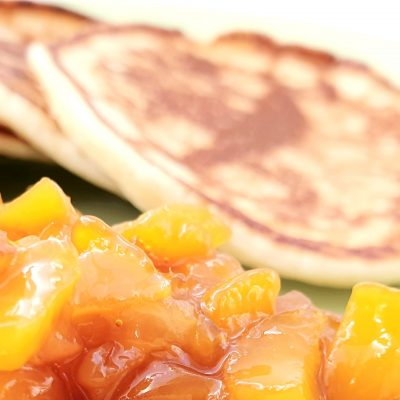 Pancakes & Peach Compote – An Everyday Brunch Feast
