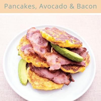 Sweet Potato Pancakes, Avo & Bacon – An Everyday Brunch Feast